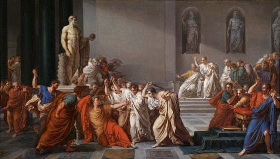 Vincenzo Camuccini's Death of Julius Caesar